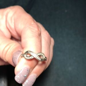Jewelry - Size 6 infinity ring sterling silver